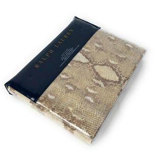 Ralph Lauren Great Sands Queen flat sheet Python